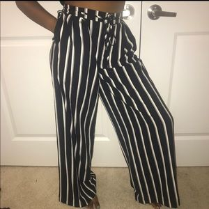 Forever 21 Flare Striped Pant